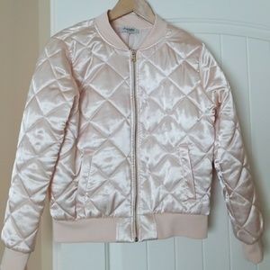Adorable pink bomber